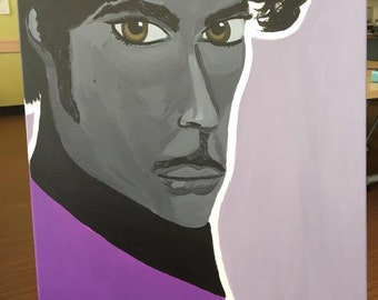 Prince- acrylic painting on 16x20 canvas
