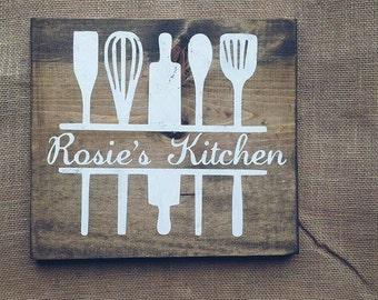 Custom kitchen name sign