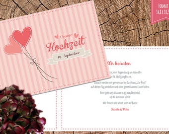 Invitation vintage flair