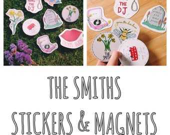 The Smiths Inspired Sticker Pack X8 / X6 Magnet Pack