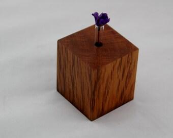Wooden bud vase handmade from Australian native forest oak timber