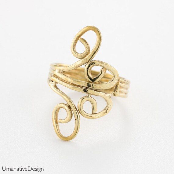 Gold toe ring. boho toe ring. brass toe ring. bohemian rings. pynky ring women. toe ring gold. adjustable toe ring. boho toe ring.