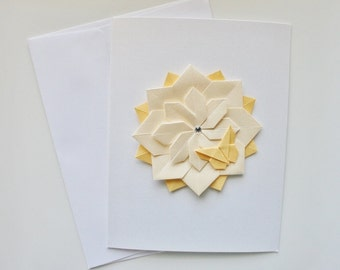 Origami Cards.Handmade Card Sets.Greeting Cards.Birthday Cards.Thank you Cards.Mothers Day Cards.Origami flower.Origami stars.Set of 3 cards