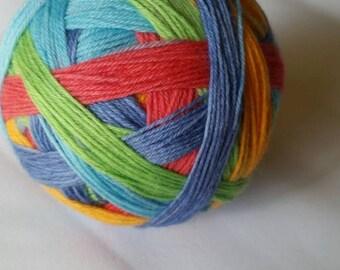 Shake Your Tail Feathers Self Striping Sock Yarn