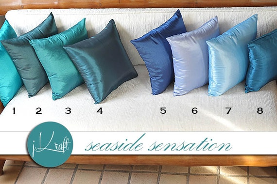 items similar to solid silk pillow cover