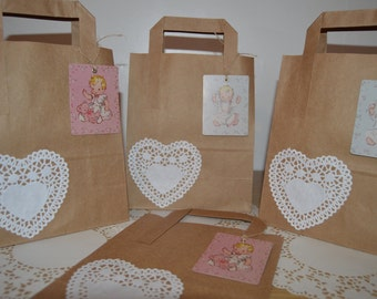 Baby Shower Vintage Style Favour Bags
