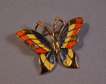 Vibrant Butterfly Brooch Pin