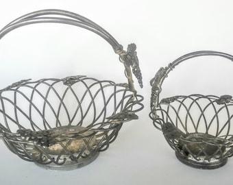 Fruit Baskets - Vintage Basket - Metal Fruit Basket - Godinger Basket - Vintage Home Decor - Silver Fruit Basket - Silver Basket