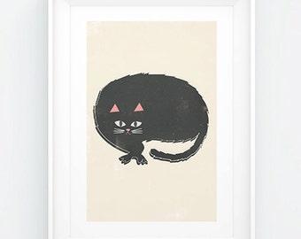 Cat Print ~ Cat Nap ~