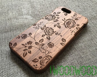 iphone 7 case wood floral ,rose , iphone 5s case wood,wood iphone 7 plus case,iphone 7/7 plus/6s/6s plus/6/6 plus/5/5s case wood