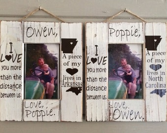 I Love You More Than The Distance Between Us Picture Frame