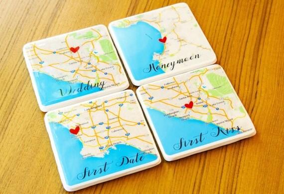 Personalized Coasters Wedding Gift: Wedding Gift Coasters Personalized Coasters Gift For Couple