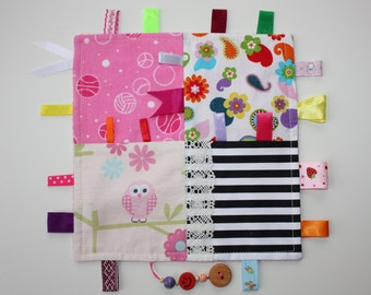 Baby Taggie Blankie with Crankle material,Free shipping