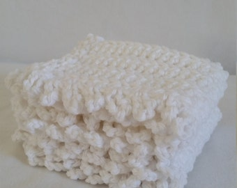 White crochet dishcloths
