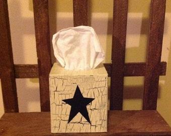 Wooden Kleenex box cover