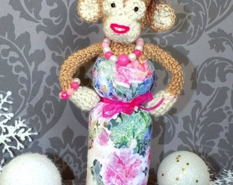 Toy handmade monkey