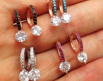 Glam silver earrings