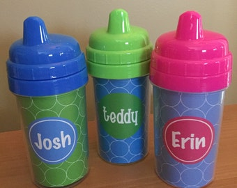 Personalized Sipper Cup – Monogrammed Sipper Cup - Sippy