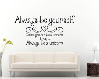 Always Be Yourself Quote Swaying Citation Words Wall Decal Vinyl Sticker Mural Room Decor L1317