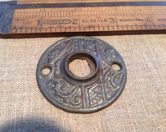 Arts & Crafts vintage embossed escutcheon plate