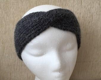 Hand knitted woman earband, turban , headband