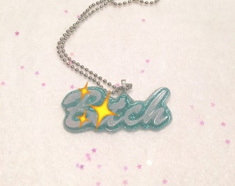 Rude Word Pendant Necklace