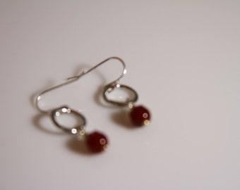 Carmelian agate drop earrings