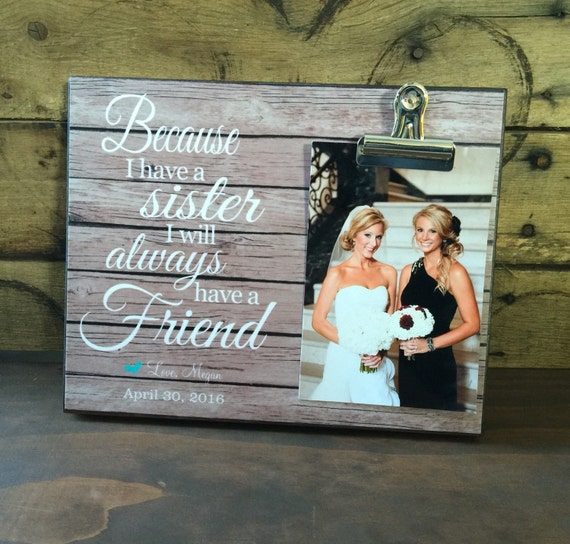 Wedding Gift Ideas For Friends Sister : ... Sister, Best Friend Gift, Initiation Gift For College, Wedding Gift