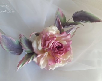 Silk flower. Rose accessory. Flower brooch. Special Day. Gift for Her