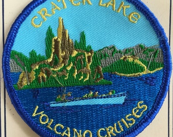 Crater Lake Volcano Cruises Vintage Souvenir Travel Patch