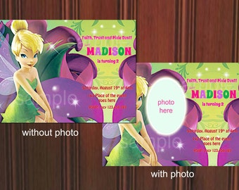 Tinkerbell Invitation. Tinkerbell Birthday Invitation. Tinkerbell Party. Digital (you print)