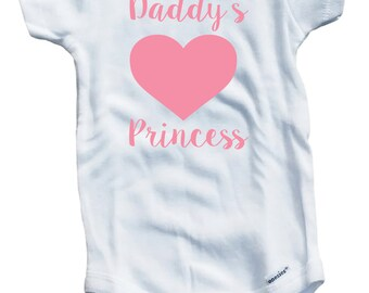 Daddy's Princess on The Laughing Giraffe 7.5 oz Baby Outfit One Piece