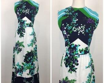 SALE, SALE, SALE, Vintage 60s dress / vintage 70s dress / 1960s dress / 1970s dress / Bleeker Street / maxi dress / floral dress / mod dress