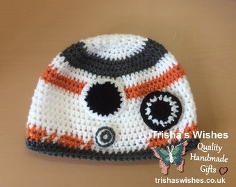 Star Wars Inspired BB8 Beanie >> Crocheted >> Handmade >> Character Hat >> Gift