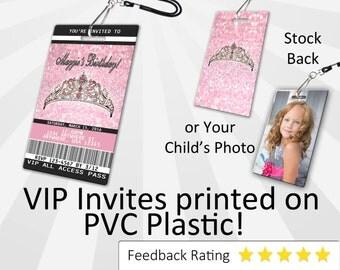 Bling Invitation PLASTIC Bling, Bling Invitation, Birthday Invitation, Birthday Invite, Bling Birthday Invitation