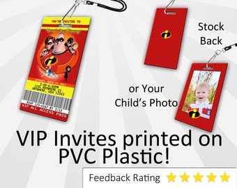 The Incredibles Invitation, PLASTIC!!!, The Incredibles Birthday Invite, Birthday Invitation, Photo Invitation, Personalized, The Incredible