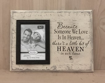 Because someone we love is in heaven wood sign, memorial gift, memorial sign, custom wooden sign, wall decor, home decor signs, wall art