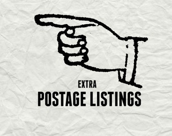 Extra postage listing:  Full postage cost, Extra postage cost, Return to Sender cost, Resend orders