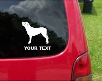 Set (2 Pieces)  Chesapeake Bay Retriever  Dog  Sticker Decals with custom text 20 Colors To Choose From.  U.S.A Free Shipping