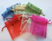 Set of 30 assorted organza drawstring bags – 3 x 4""