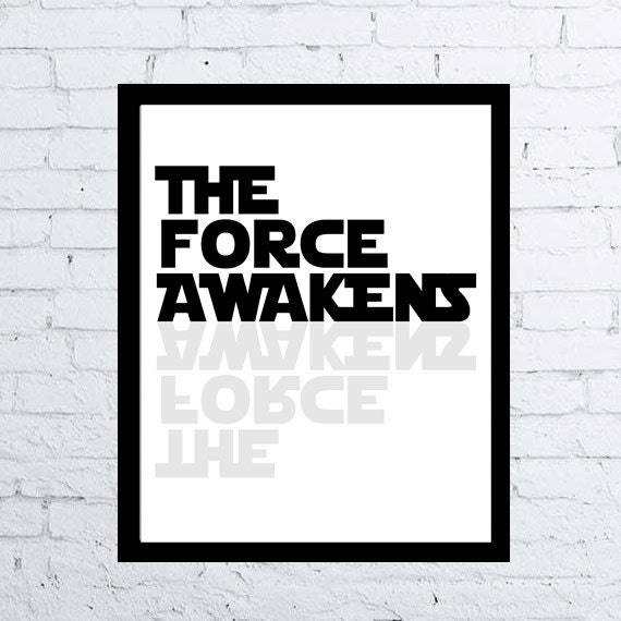 Star Wars Quotes The Force: Star Wars The Force Awakens Printable Movie By CelineArtPrints