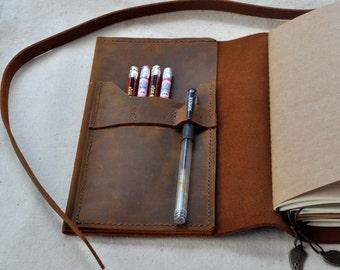 Unique Design Leather Journal  (Free Initials)