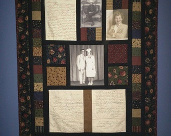 Personalized wall hanging - memory wall hanging - photo wall hanging - keepsake - wedding - anniversary - birthday