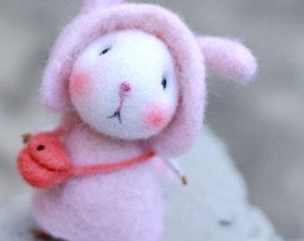 wool felt diy kit needle felt kit --- mice  style 108