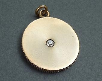 14 K Gold Locket with 10pt diamond