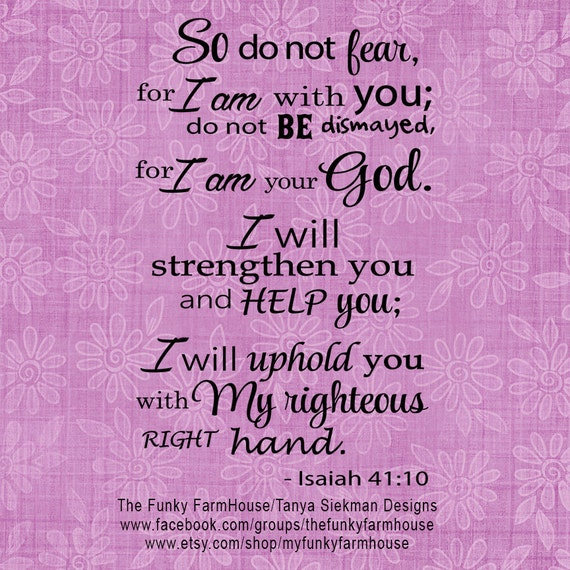SVG, DXF & PNG - So do not fear for I am with you