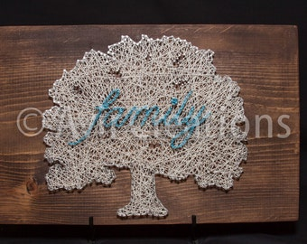 Custom Family Tree String Board
