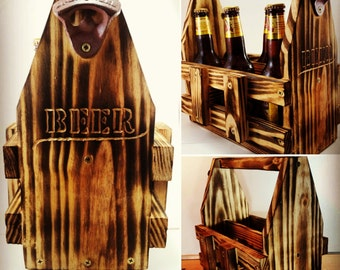 Wooden 6 Pack Holder/Beer Caddy (Personalized)