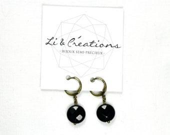 AGATE black earrings
