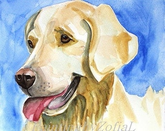 original watercolor painting dog painting dog portrait 25x25cm (10x10inch)